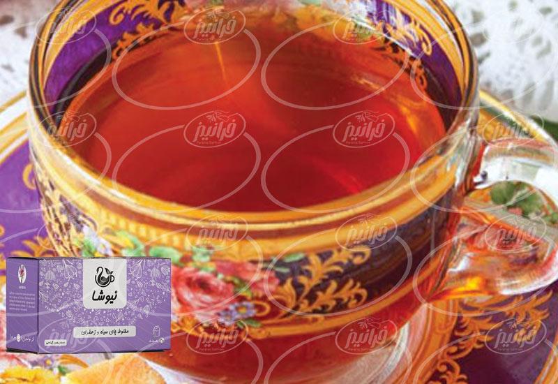 جدیدترین قیمت دمنوش چای زعفران نیوشا