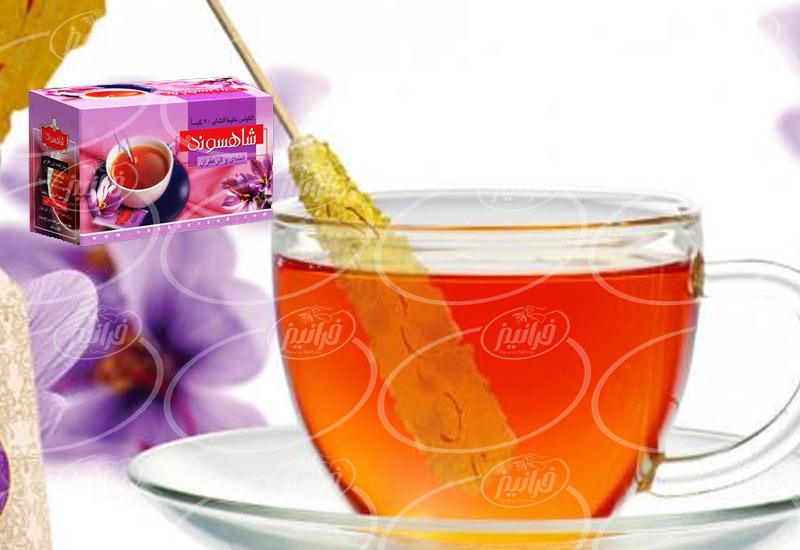اولین صادر کننده چای زعفران شاهسوند