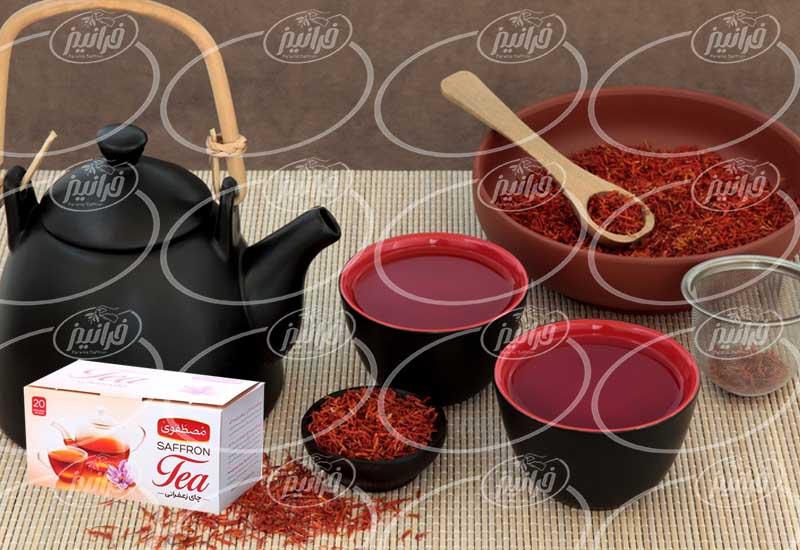 چای زعفران مصطفوی در بسته بندی متنوع