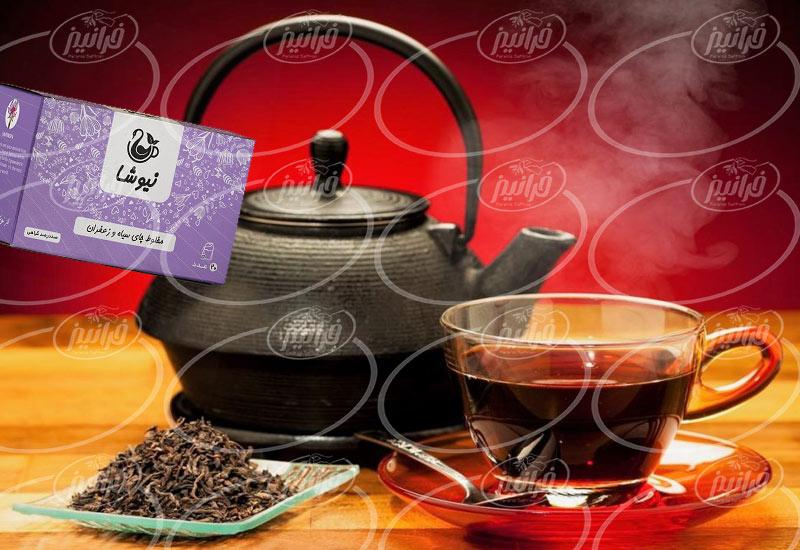 صرفه زیاد قیمت چای زعفران نیوشا برای ایرانیان