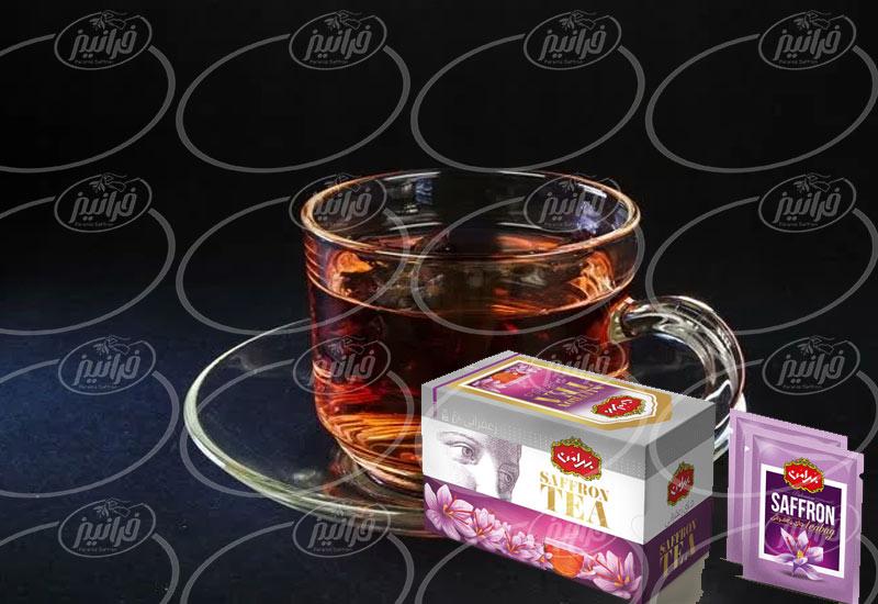 میزان فروش چای زعفرانی بهرامن